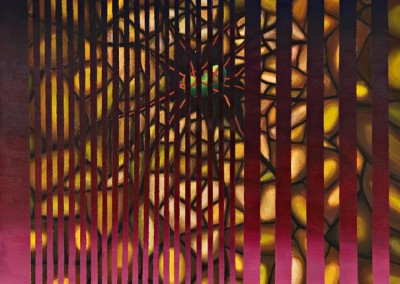 """Genesis, אקריליק על קנווס, 100x100 ס""""מ, 1998"""
