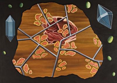 """אבק כוכבים , אקריליק על קנווס, 100x110 ס""""מ, 1999"""