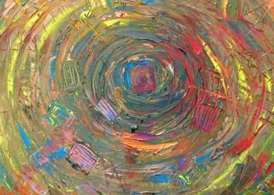 """מנדלה, עליזה ולטר, (שדה ורבורג)אקריליק על בד, 50x50 ס""""מ"""