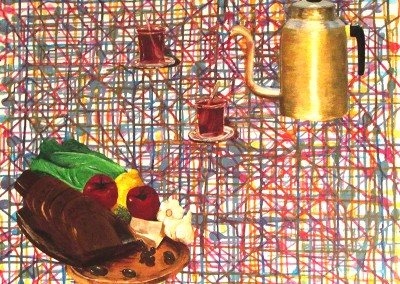 """""""פיקניק"""", גלית ברגידה (בנימינה) אקריליק על בד, 100*100 ס""""מ"""
