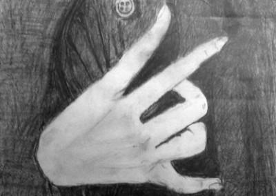 שרה בוגן, רישום עפרון על נייר